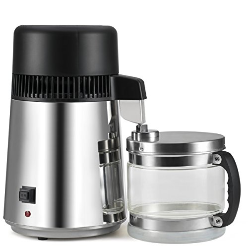 AKUNSZ Distillateur d'eau en Acier Inoxydable 4L 750W Water Distiller avec Protection...