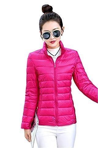 YMING Femme Manteau Hiver Jacket Court Doudoune Blouson Ultraléger compressible