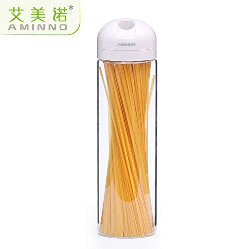 MEICHEN Cucina vetro deposito ermetico vaso spaghetti serbatoio stoccaggio grano in scatola caffettiera grande
