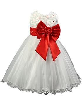 Qiufeng Ragazze Estate Velo Da Sposa Principessa Vestito Bambino Cerimonia