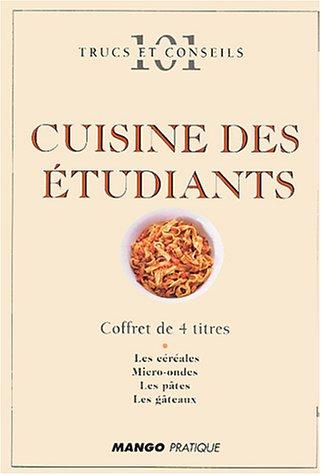 Cuisine des étudiants Coffret en 4 volumes : Les pâtes ; Le micro-ondes ; Les gâteaux ; Les céréales