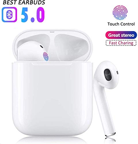 VCshow Cuffie Bluetooth, Wireless 5.0 Auricolari Bluetooth IPX7 impermeabili Cuffie audio 3D Surround Cuffie sportive Microfono incorporato Cuffie intrauricolari per Apple Airpods IOS Android