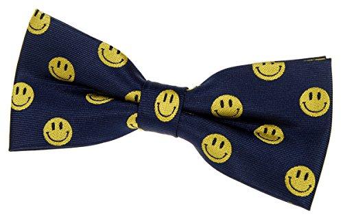 Retreez Happy Smiley Face émoticône pre-tied Nœud Papillon (11,4cm)–plusieurs couleurs Bleu - Bleu marine