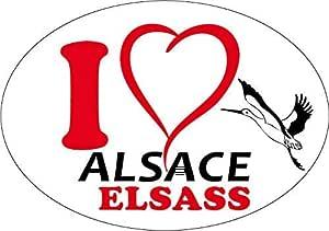 ELSASS 2 Stickers ELSASS EUROPE ALSACE