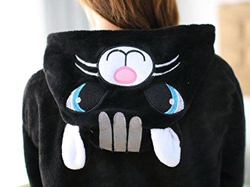 Molly Kigurumi Pyjamas Unisexe Adulte Costume Cosplay Animaux Onesie Noir Chat