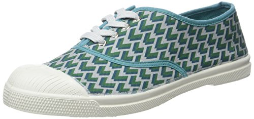 Bensimon - Tennis Lacet Retro, Basse Donna Vert (Vert)