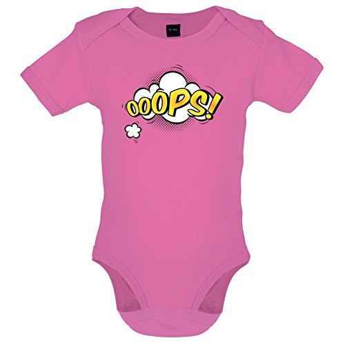 Dressdown Superheld Ooops - Lustiger Baby-Body - Bubble-Gum-Pink - 3 bis 6 Monate