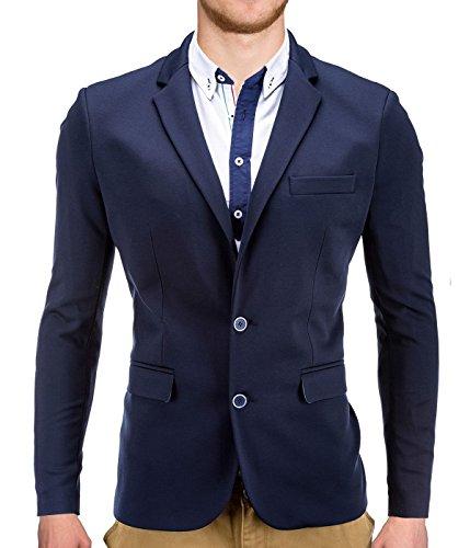 BetterStylz DannyBZ Sakko Jackett Blazer Freizeit Business Jacke Slimfit in Navy Blau (M)