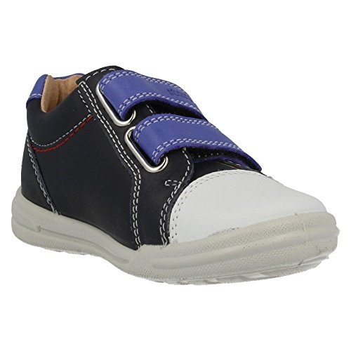 Start-Rite Flexy-Soft Milan Navy Colbalt Leather Infant First Walkers Shoes Navy Colbalt