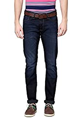 Allen Solly Mens Drop Crotch Jeans (8907308742187_ALDN515J05620_36W x 34L_Dark Blue Solid)