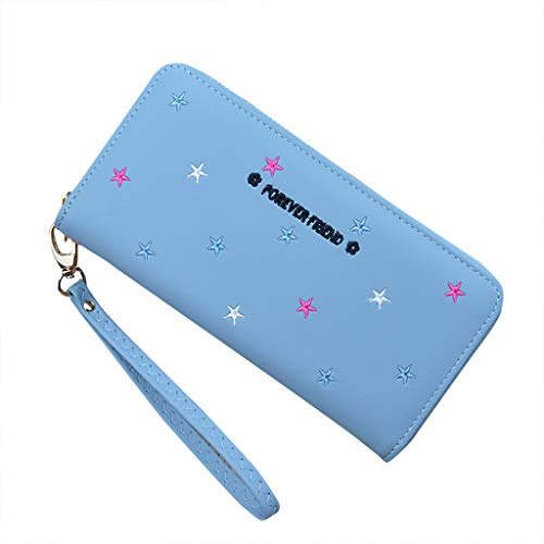 Coin Purse, Change Purse Pouch Pocket, Antimagnetische Handheld Damen Pattern Wallet Geldbörse Reißverschluss Münzbeutel echtes Leder, Münzbörse Minigeldbörse Kleingeldbörse(Blau) -