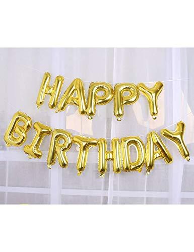 WSJQQ Alles Gute Zum Geburtstag Brief Luftballons 16 Zoll Folienballons Geburtstagsfeier Dekoration Rose Gold Silber Alphabet Air Balon Kinder Geschenke Ball Olive - Alphabet Olive