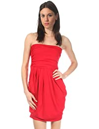<h1>Nife Women Strapless Dress red Czerwony S12R38CZ-czerwony