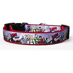 The Big Bang Theory Collar Perro Hecho a Mano Talla L con Correa Multiposicion a juego Dog Collar HandMade