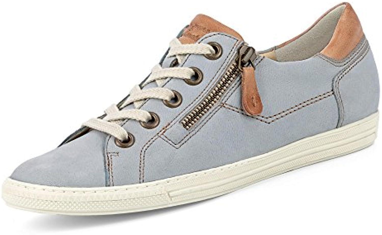 Paul Green 4128-372 Damen Sneaker aus Nubukleder Lederfutter und -Innensohle