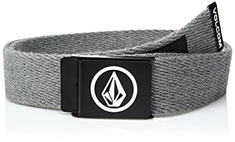 Volcom Herren Circle Web Gürtel, Heather Grey, One Size