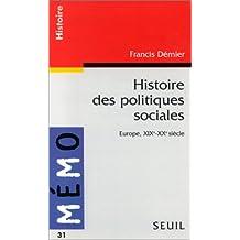 Histoire des politiques sociales : Europe, XIXe-XXe siècle