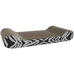 Rascador de cartón con forma de sofá, incluye hierba gatera