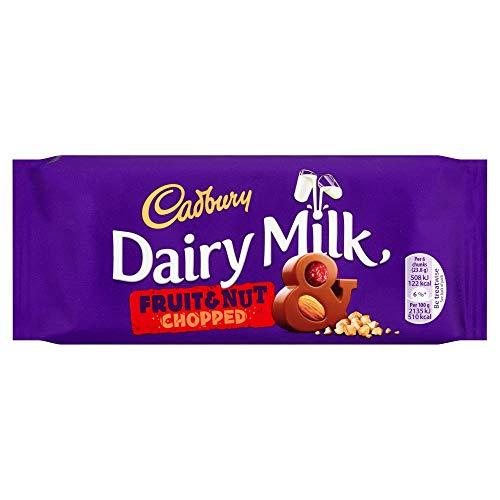 Cadburys Fruit N Nut 95g x 22 x 1 Kinderpartysüßigkeiten Schokolade