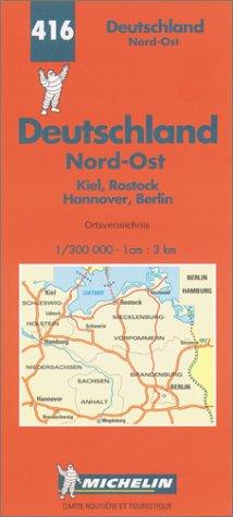 Carte routière : Allemagne Nord-Est, N° 416 par Cartes REGIONAL Michelin