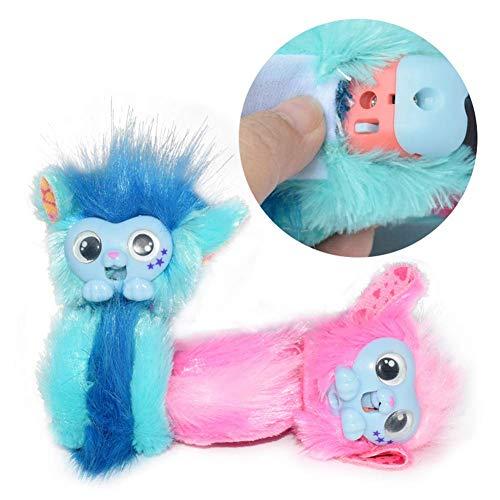 Bright love Lindo Juguete de Peluche muñeca Mono pequeño en Vivo niño Mascota,Blue