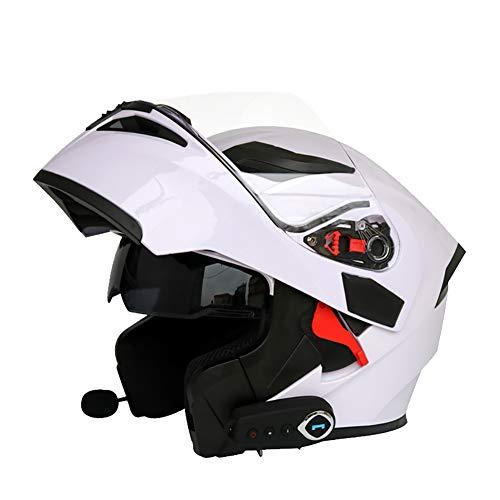 ZNDDB motorradhelm - Kann Das Telefon beantworten/Musik / Navigation/Bluetooth-Helm, Vier Jahreszeiten Universal, Elektroauto/Motorradhelm, 550 mAh hören,Yellow,M