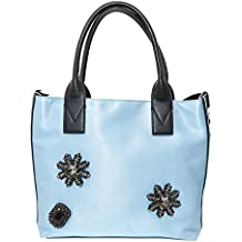 PINKO ACCESSORI Pinko Bag in Raso Light Blu con Strass Canesca fc85ee8d848