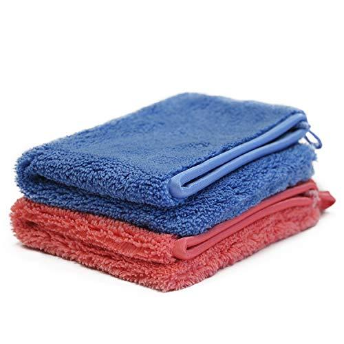 Putzen wie die Profis 2x Ultra-Microfaser Reinigungshandschuh Sparset | Handschuh Fenster- & Autoreinigung | Reinigungstuch waschbar | Putztuch für alle glatten Flächen |inkl. Gratis-Probe GlasRein