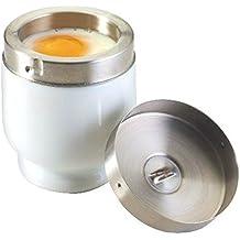 Ceramica Uovo Coddler - Porcellana E Acciaio Inox (Confezione da 4)