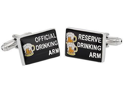 Teroon Manschettenknöpfe Motiv Bier
