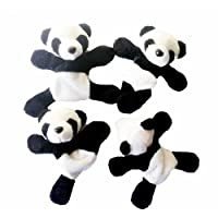 Cute Soft Plush Panda Fridge Magnet Refrigerator Sticker Souvenir Decor Animal 3D Board Magnets Or Any Metal Surfaces, for Kids and Kitchen (4 Pack Set)