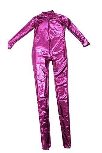 Ganzkörperanzug Kostüm Spandex Volle - CHENGYANG Metallisch Glänzenden Ganzkörperanzug Anzug Bodysuit Kostüm Spandex Zentai Cosplay Pink 2XL