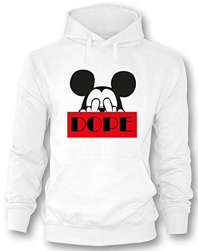 Dope Maus - Herren Hoodie in Größe S (Mickey Maus Herren)
