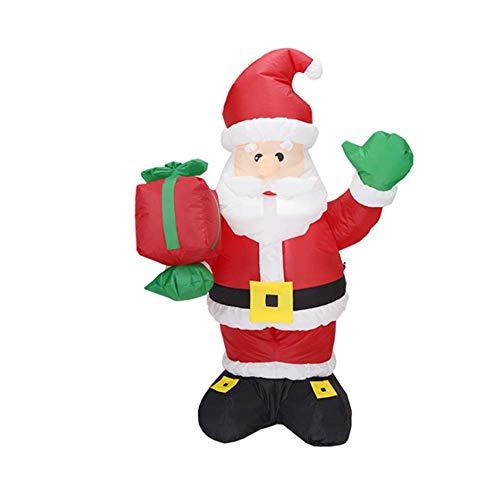 M&M Inflatables - Zmymzm Weihnachten Aufblasbarer Weihnachtsmann Mit Geschenk