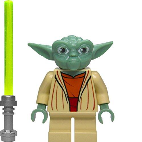 LEGO Star Wars Minifigur - Meister Yoda mit grünem Lichtschwert