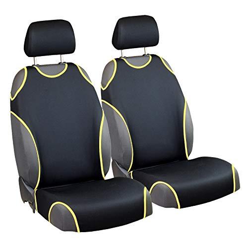 Zakschneider Matrix Sitzbezüge - Vorne Sitzbezüge - für Fahrer und Beifahrer - Farbe Premium Schwarz Gelb - Auto Matrix Toyota Sitzbezüge