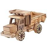 Modello di Camion di Legno Bambini Giocattoli Autocarro con Cassone Ribaltabile Veicoli di Ingegneria Giocattolo Meccanico per Auto Decorazioni per Camion Desktop Regalo per 3 4 5 6 7 Anni Bambini