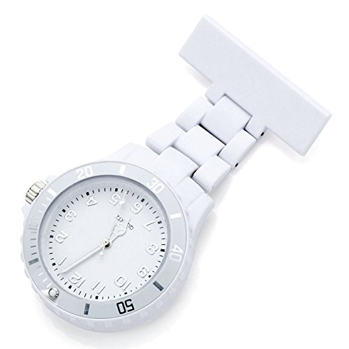 JSDDE-Womens-Girls-Fashion-Nurse-Clip-on-Fob-Brooch-Lapel-Hanging-Pocket-Watch-White
