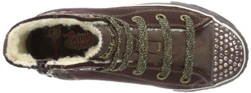 Skechers Shufflesdreamsters, Sneakers Basses Fille Marron (braun)