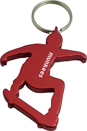 (munkees Schlüsselanhänger Skateboard-Figur Flaschenöffner Sport-Fans, Rot, 34944)