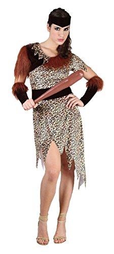 Islander Fashion Damen 10000 BC Kost�m Damen Pr�historisches Kleid H�hle Kost�mfest Outfit One Size EU 36-42