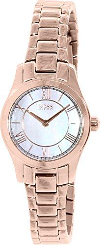 Hugo Boss 1502378 - Reloj con correa de piel para mujer, color marrón/gris