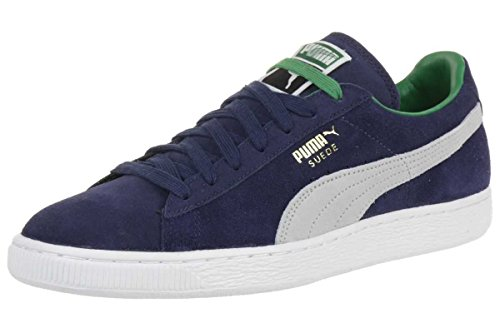 Puma Suede Classic RTB Leather Sneaker Men Trainers navy 356850 08 blue-gray-white-gold