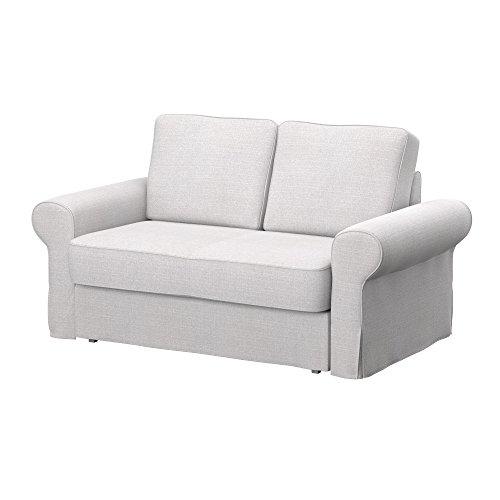 Soferia - IKEA BACKABRO Funda para sofá Cama de 2 plazas, Naturel...