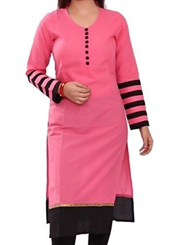 Lady Zone Women's Cotton Unstitched Salwar Suit - LLDM-008_Black and yellow_Free Size
