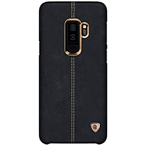 NILLKIN Englon Series Leather Back Cover Case for Samsung Galaxy (Samsung Galaxy S9 Plus, Black)