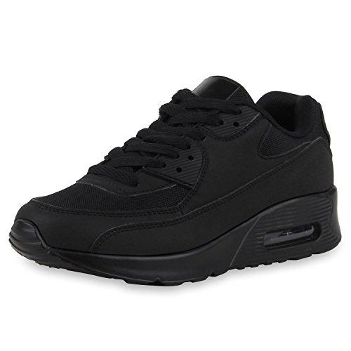 napoli-fashion , Chaussures de sport d'extérieur pour homme Schwarz All