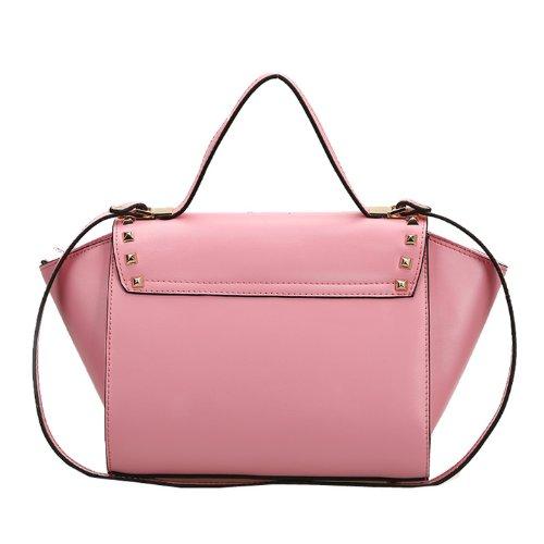 Dissa Q0435 donna Borse a spalla,Borse a tracolla26x21x16 cm (B x H x T) Pink