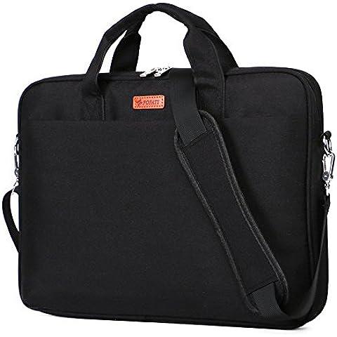 Laptop Bag para portátil de 131415awland multifuncional bolsa de ordenador portátil Maletín de nylon impermeable bolso de mano bolsa de hombro Maletín para portátil Ordenador Portátil Funda para MacBook Air de 131415pulgadas/pro Tablet, negro, 15-15,6 pulgadas