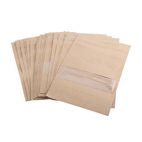 20braun Kraftpapier Staubbeutel Kleine Objekte, Papier Wasserdicht Papier Staubbeutel 4Größen für Option, 5.51× 8.66 inch